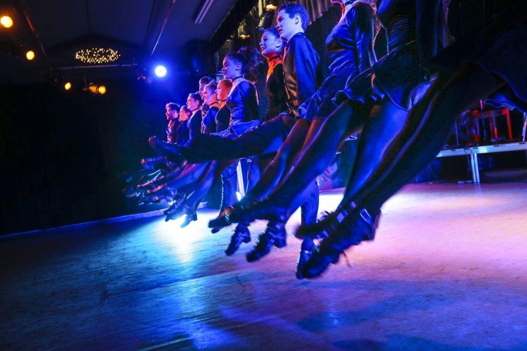 Dancers prepare for their Kickin' It Irish show