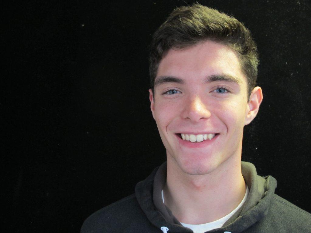 Evan Lowe, smiling